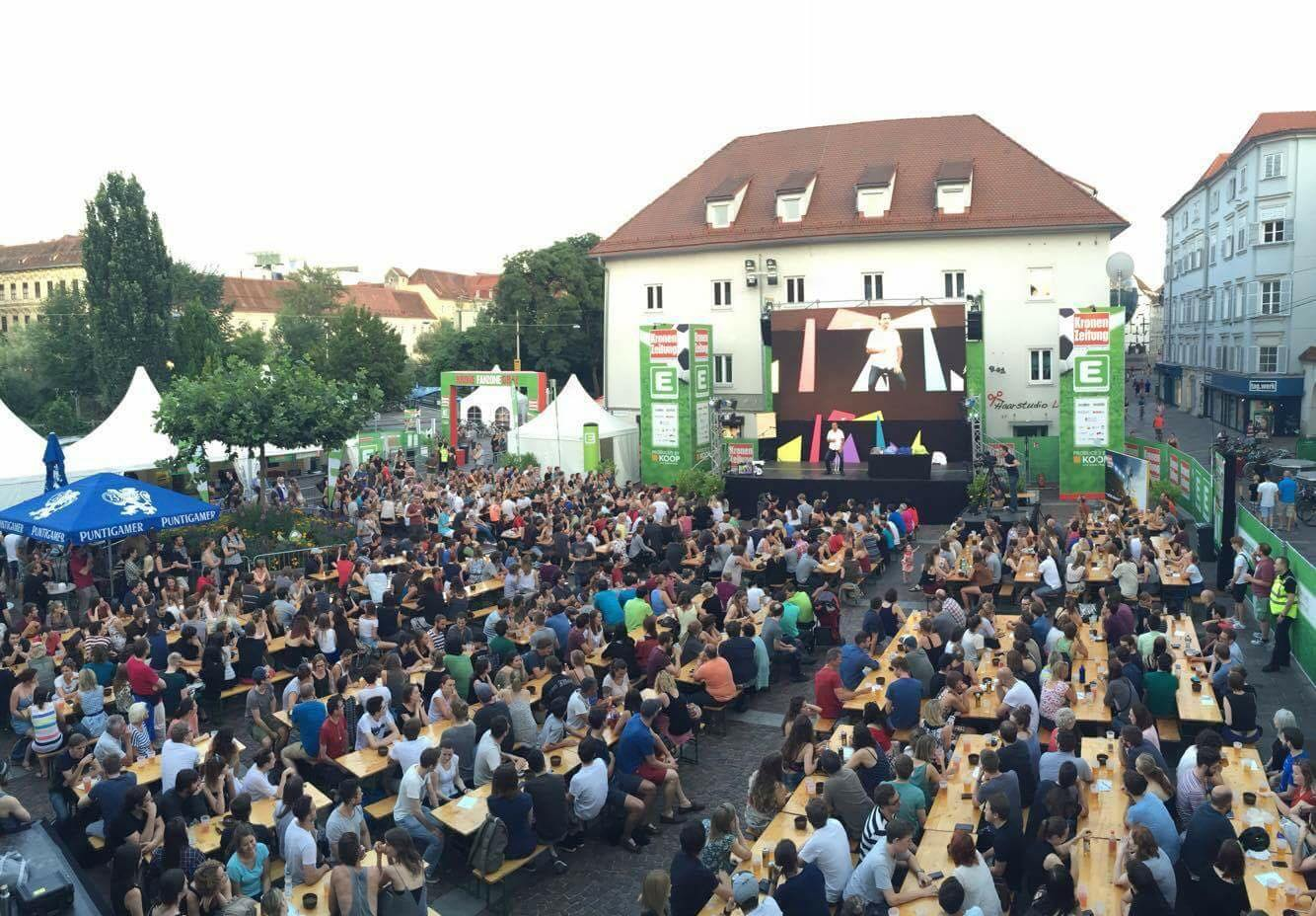 #Public Viewing 2016 #Fanzone #Graz #Events #KOOPlive